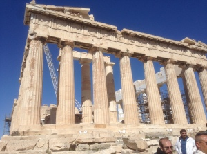 Ignore the people's heads, those aren't part of the Parthenon.